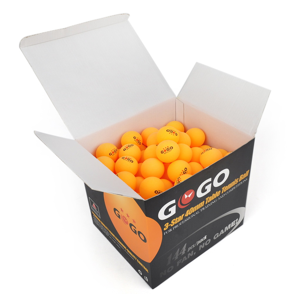 GOGO 3-Star 40mm Table Tennis Balls (144-pack), Ping Pong Balls