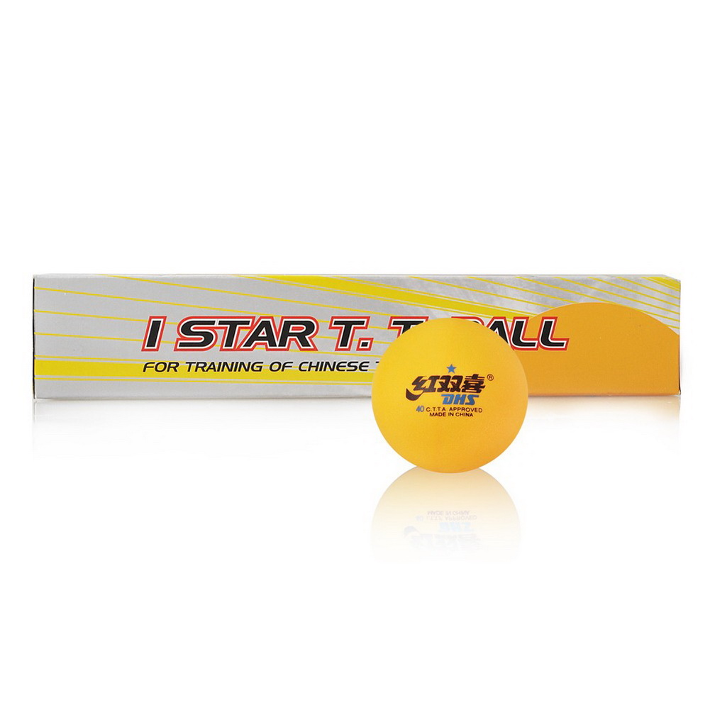 Dhs 1 star table tennis balls 40mm ping pong for 1 star table tennis balls