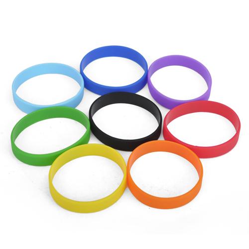100 Pcs GOGO Adult's Blank Silicone Wristbands, Silicone Bracelets
