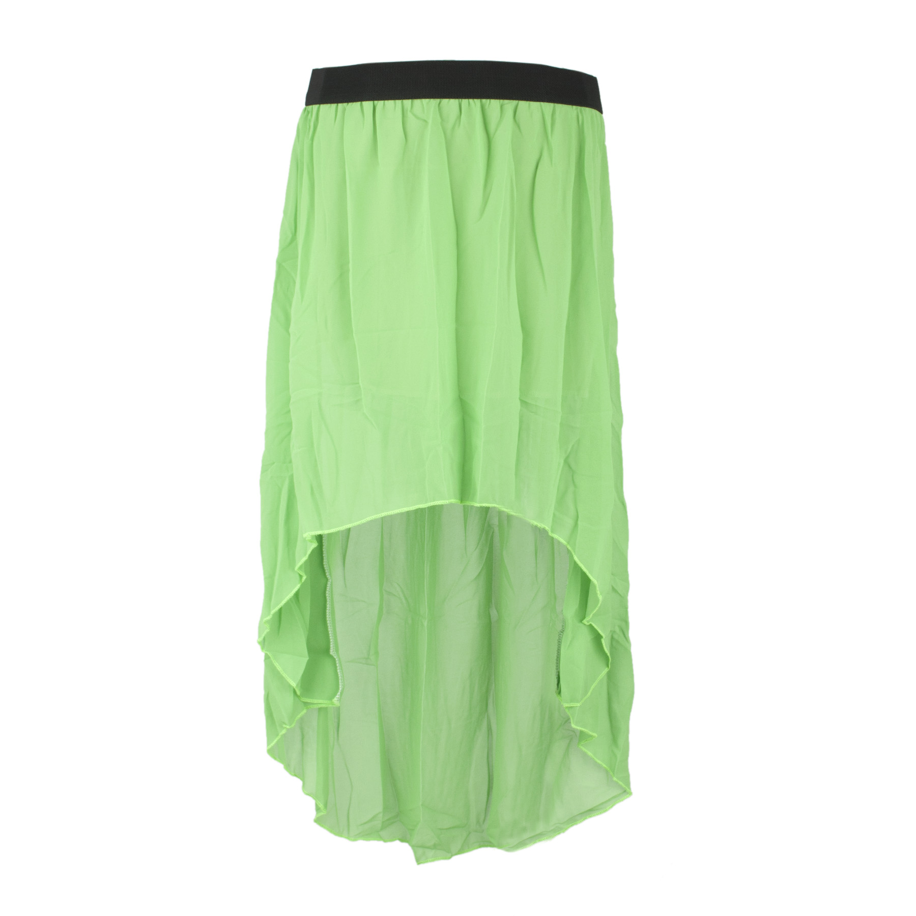 opentip toptie flare high low skirt chiffon hi low
