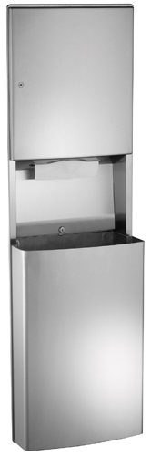 ASI 20469 Recessed Paper Towel Dispenser And Removable Waste Receptacle