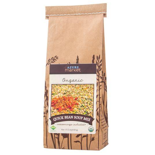 Azure Farm Quick Bean Soup Mix, Organic - 15.2 ozs.