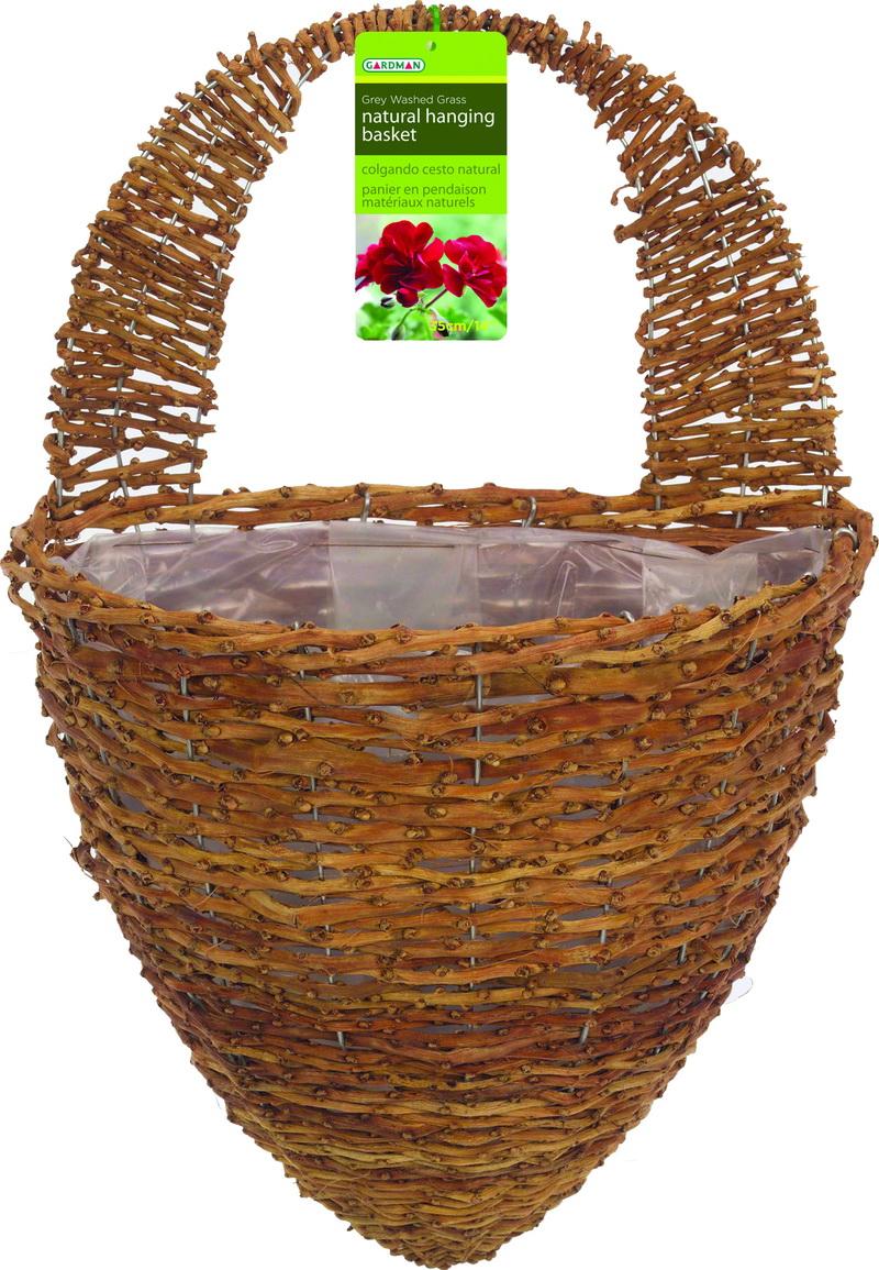 Gardman rustic rattan half hive wall basket 12 inch - Wicker beehive basket ...