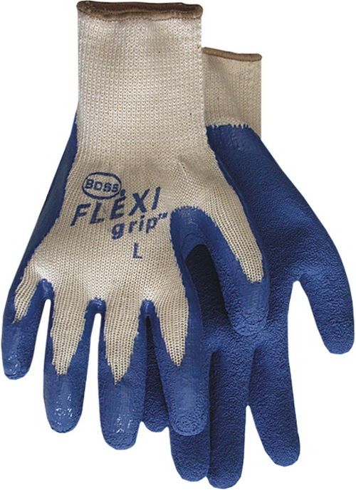 Boss Flexigrip Latex Palm String Knit Glove - Blue - Extra Large