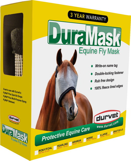 Durvet Duramask Fly Mask - Gray - Arabian