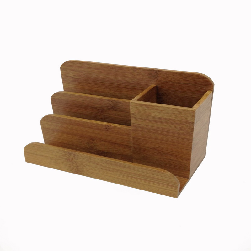 Buddy products bb 024 bamboo desk organizer natural wood - Bamboo desk organiser ...