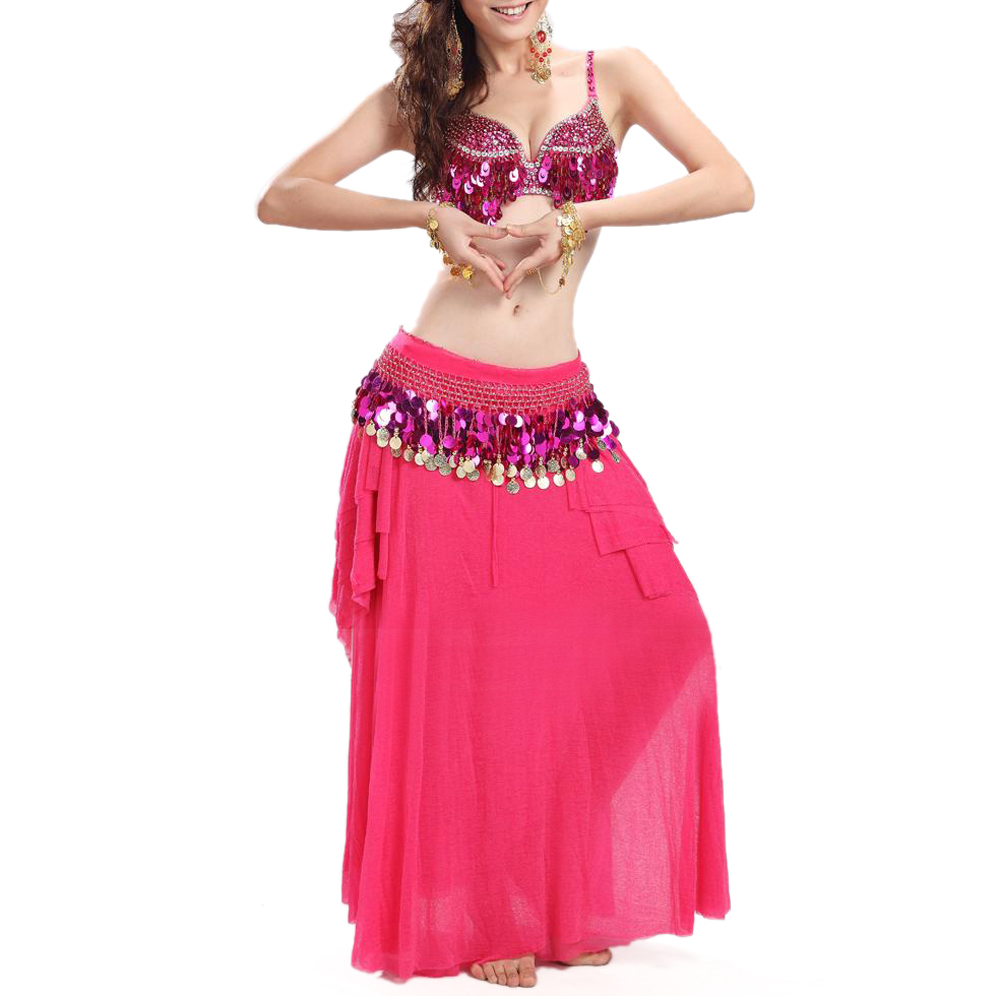 BellyLady Belly Dance Sequined Bra Top, Size For 34B/32C, Christmas Gift Idea