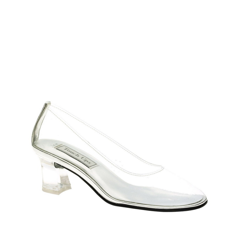 Touch Ups by Benjamin Walk Women's Cinderella Shoes Vinyl Clear