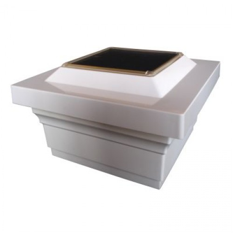 Classy Caps SL075W 5X5 White Majestic Solar Post Cap