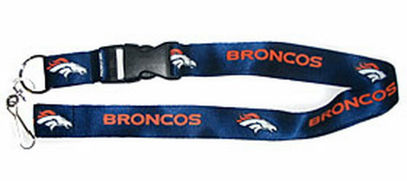 Denver Broncos Breakaway Lanyard with Key Ring - Navy