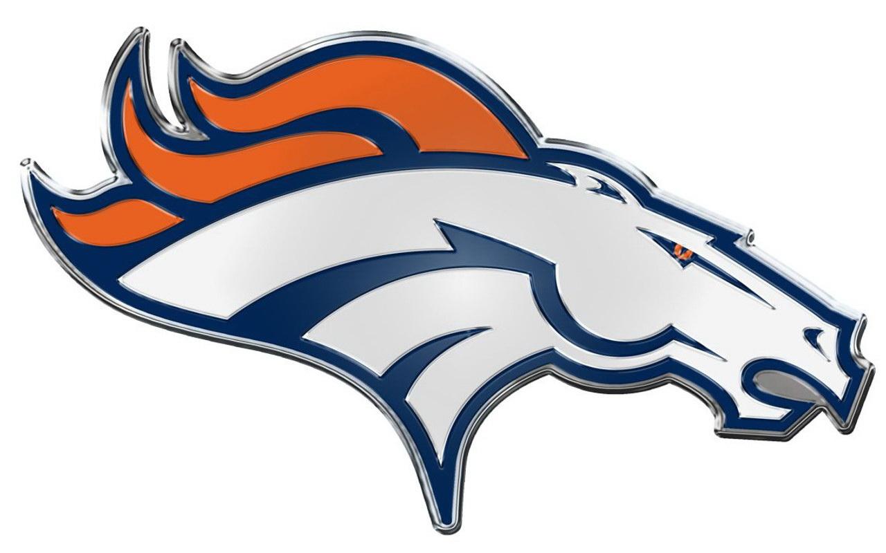Team promark denver broncos die cut color for Denver broncos colors