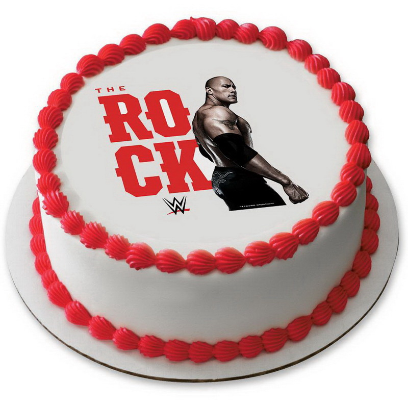 Edible Cake Images Wwe : Opentip.com: WWE The Rock 7.5