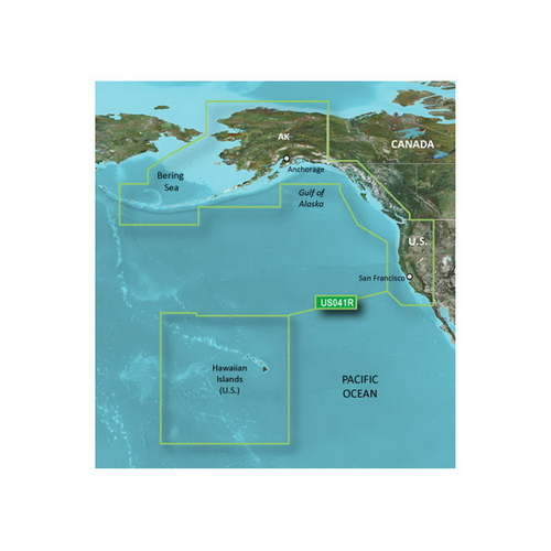 Garmin Bluechart G2 - HUS041R - Us West G2 - Data Card