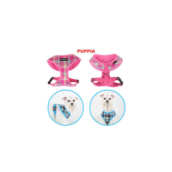 Puppia Harness - Spring A Pink Sm
