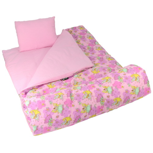 Wildkin 17033 Fairies Sleeping Bag, Pink