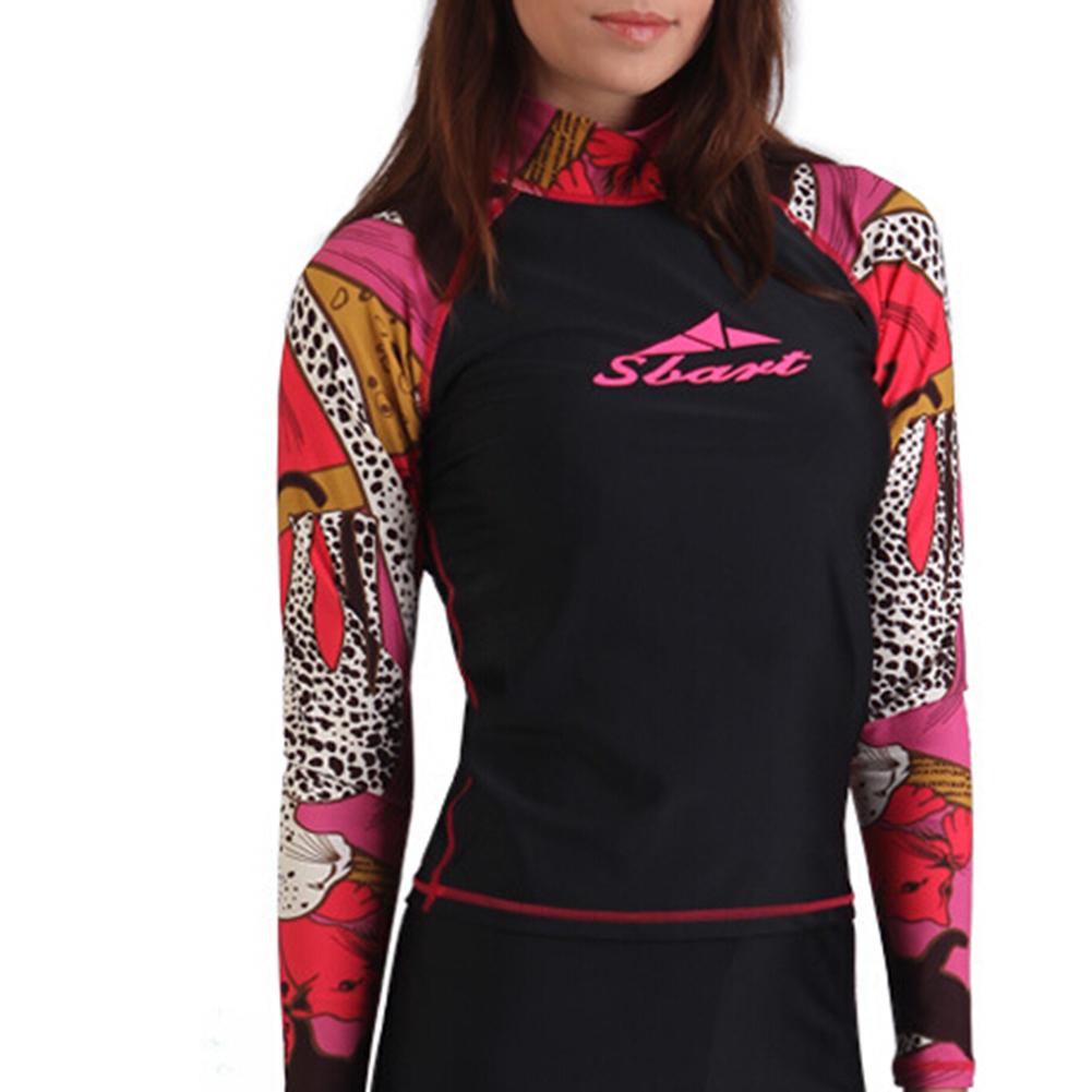 Gogo women 39 s rash guard sun block shirt for Womens rash guard shirts