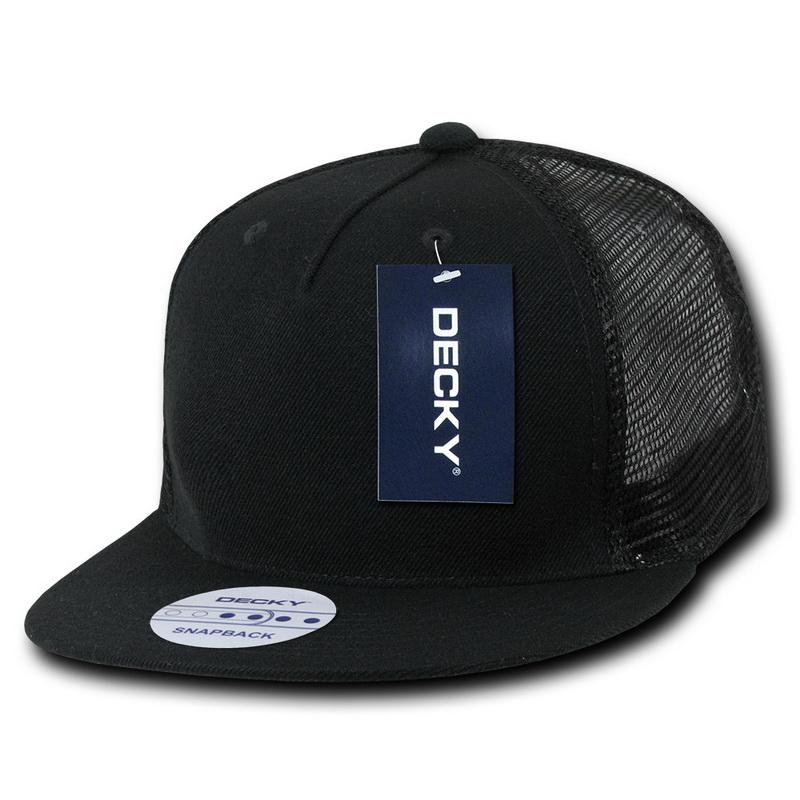 Decky Trucker Hats: Opentip.com: Decky 1063 5 Panel Flat Bill Trucker Hats
