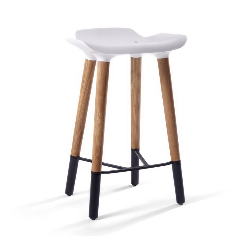 Design Lab Mn Ls 1011 Whtblk Pluto Danish Modern Counter Stool With White Seat 18