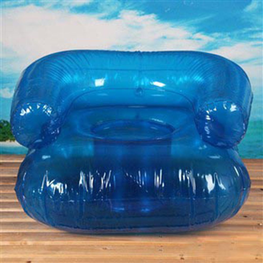 Inflatable Sofa Clear: Opentip.com: GOGO Inflatable Clear Blue Sofa