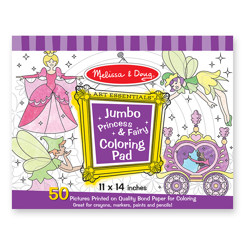 Melissa & Doug LCI4263 Jumbo Coloring Pad Princess & Fairy
