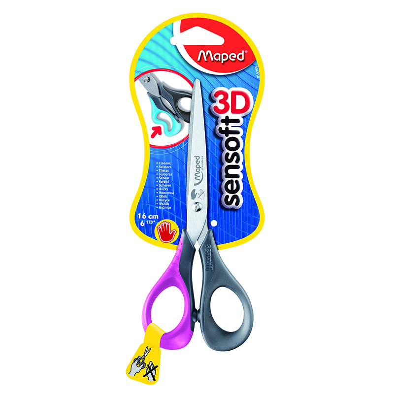 Maped USA MAP696510 6 1/2In Sensoft Scissors Left Haned
