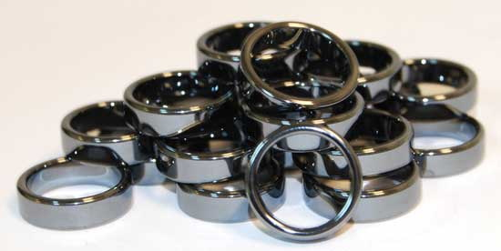 AzureGreen JRH116 6mm Flat Hematite Rings (20/bag)