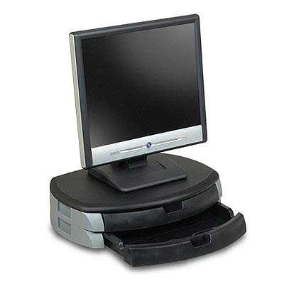 Ziotek Monitor / Printer Stand with 2 Drawers Black ZT1130411