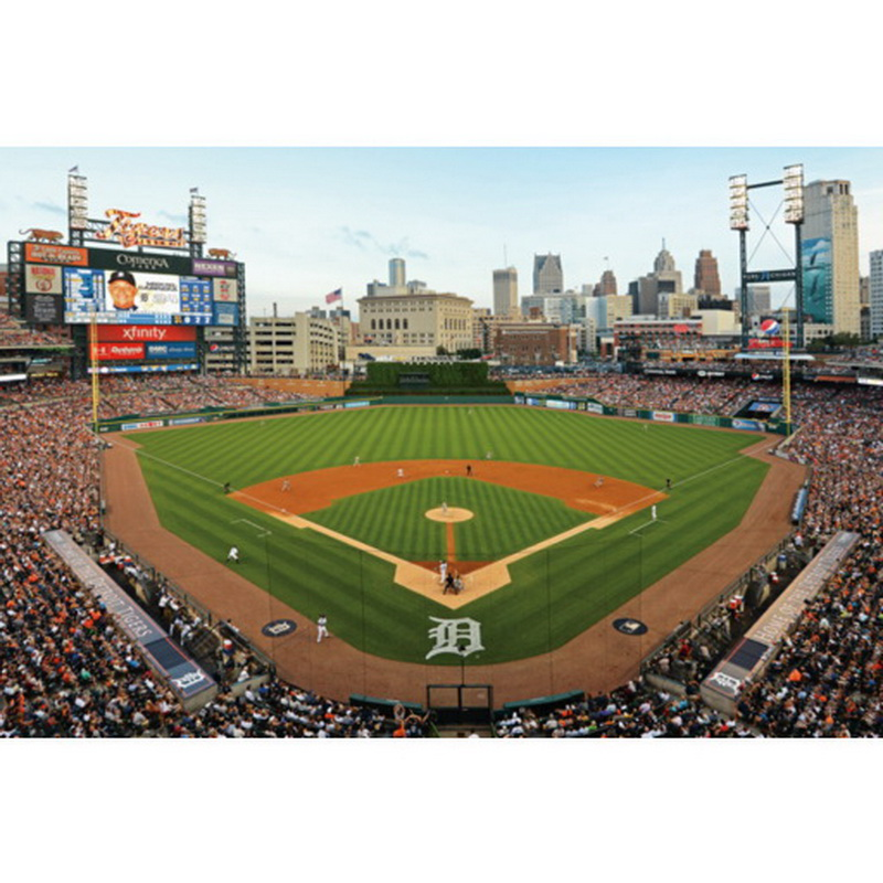 Fathead 17 10128 behind home plate at for Comerica park wall mural