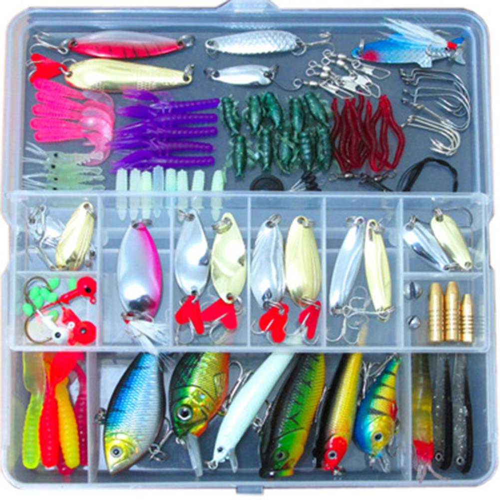 Gogo fishing tackle box hard soft baits for Hard and soft fishing