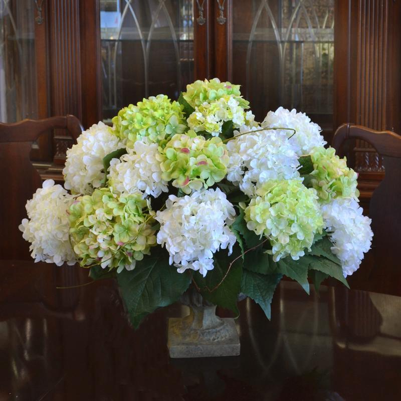 White hydrangea flower arrangements imgkid the