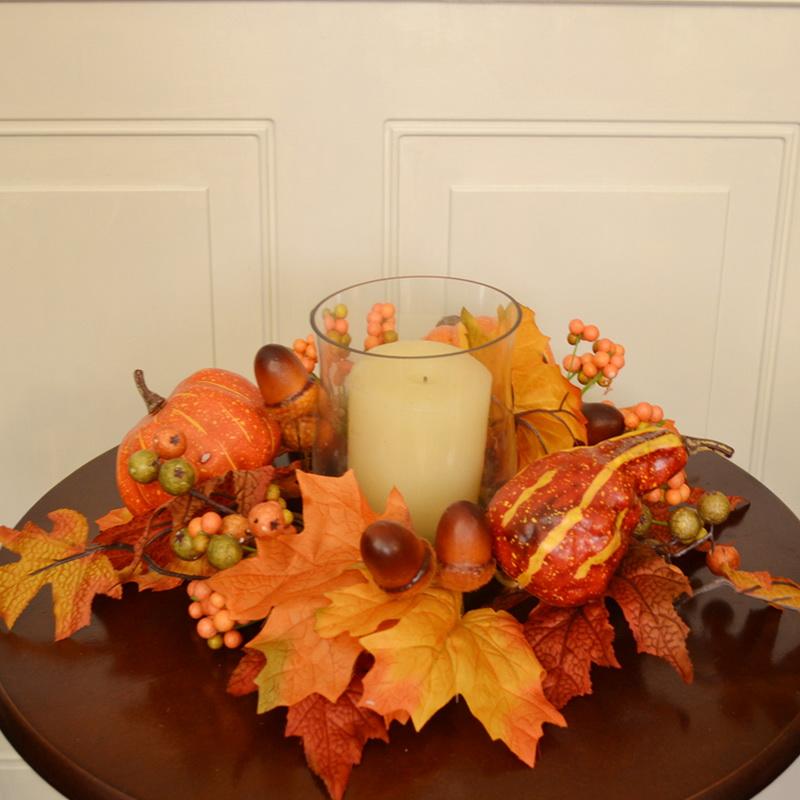 Opentip floral home decor fall pumpkin berry