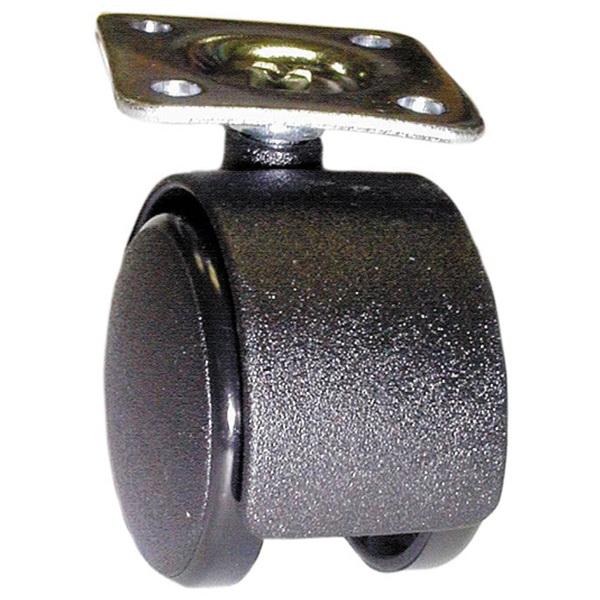 40mm Castor Plate BLACK