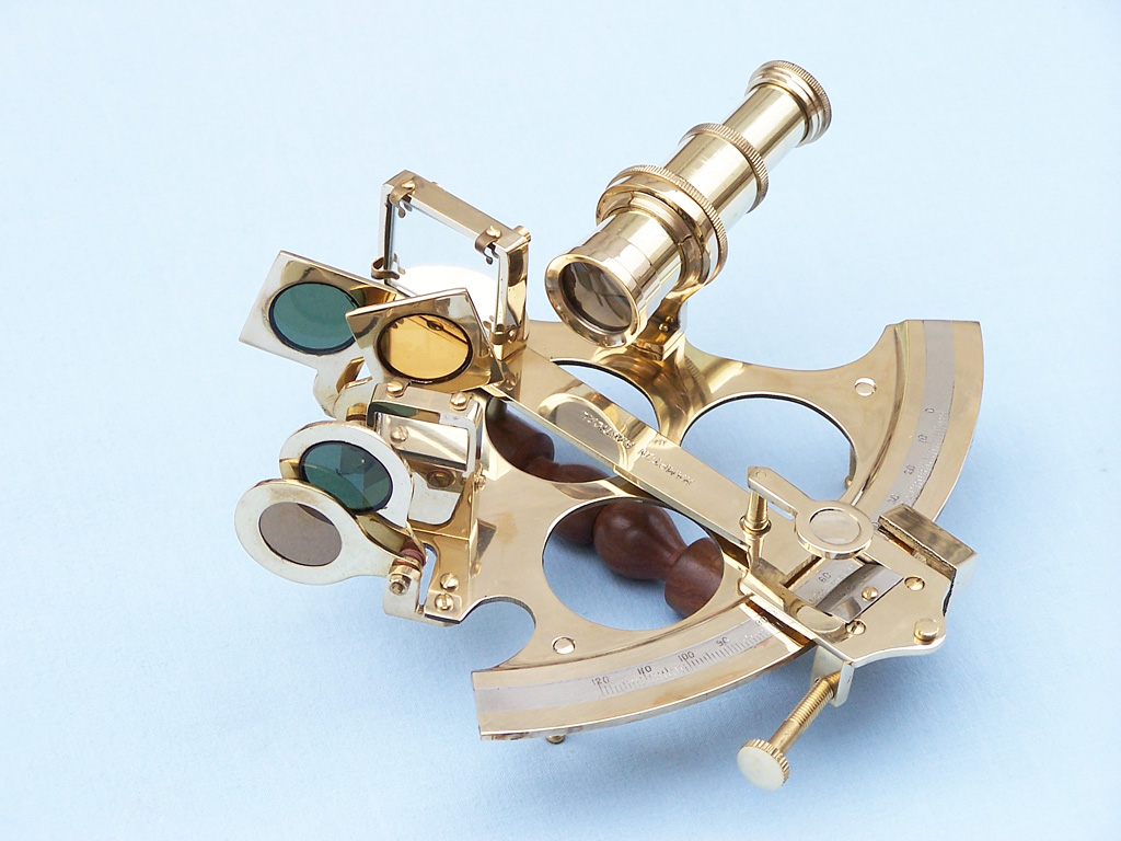 """Handcrafted Model Ships NS-0427 Captain's Brass Sextant 8"""""""