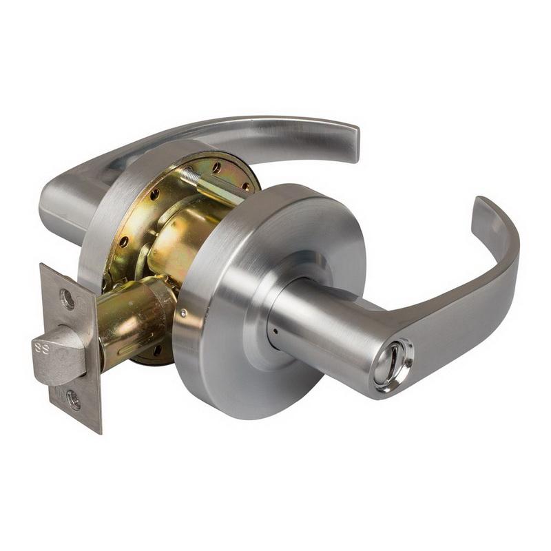 Harney hardware 86507 dauntless commercial door lock privacy bathroom function - Commercial bathroom door handle ...