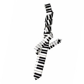 TopTie Unisex Fashion Keyboard Piano Skinny Necktie Tie, Great necktie for musicians or music teacher