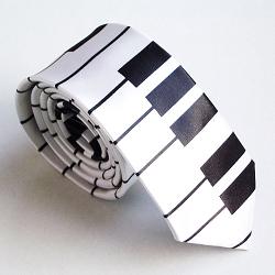 TopTie Unisex Fashion Keyboard Piano Skinny Necktie Tie, Great necktie for musicians or music teacher
