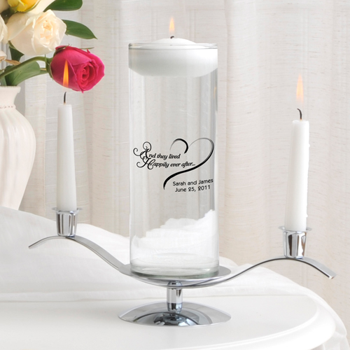 JDS Personalized Floating Unity Candle Set