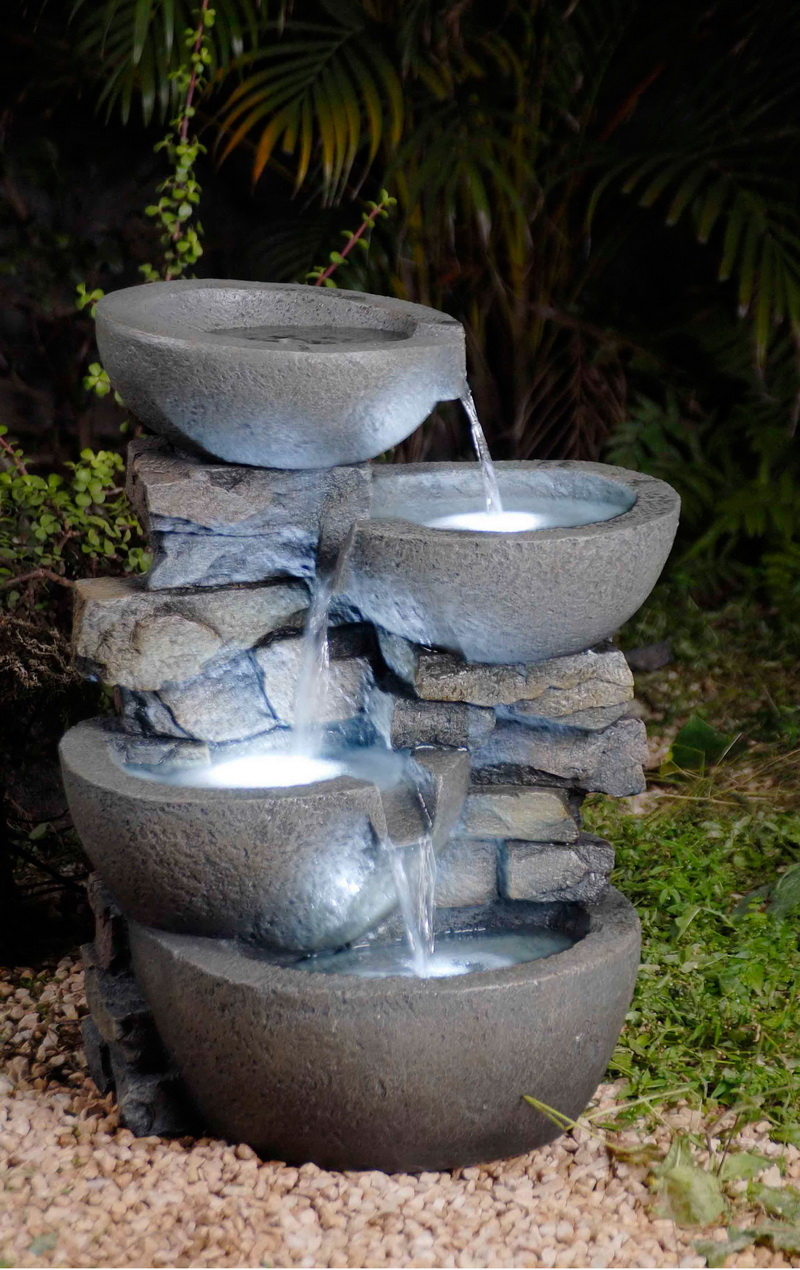 Opentip Com Jeco Fcl059 Modern Bowls Fountain With Led Lights