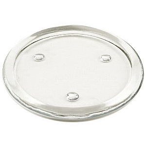 keystone candle od 79569 flat glass holder 6 inch