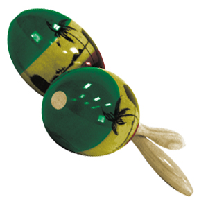 Generic - Tri-Colored Maracas-Large