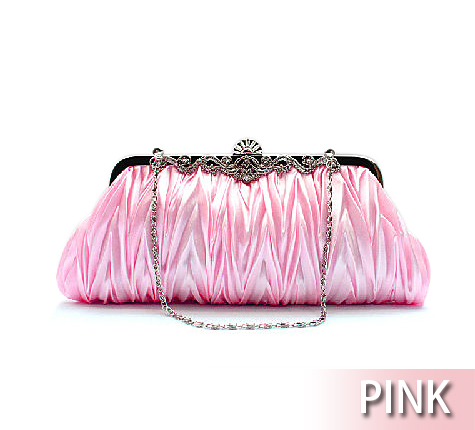 Toptie Pleated Satin Evening Handbag - Wholesale