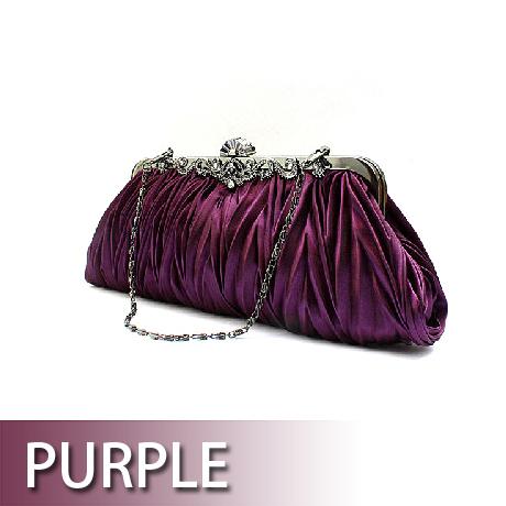 Toptie Pleated Satin Evening Handbag - Wholesale