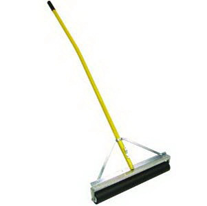 "Midwest Rake 70648 48"" Non-Absorbent Roller Squeegee, 60"" Ergonomic Yellow Aluminum Handle"