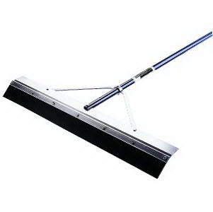 "Midwest Rake 76924 24"" General Purpose Squeegee, 66"" Blue Aluminum Handle"