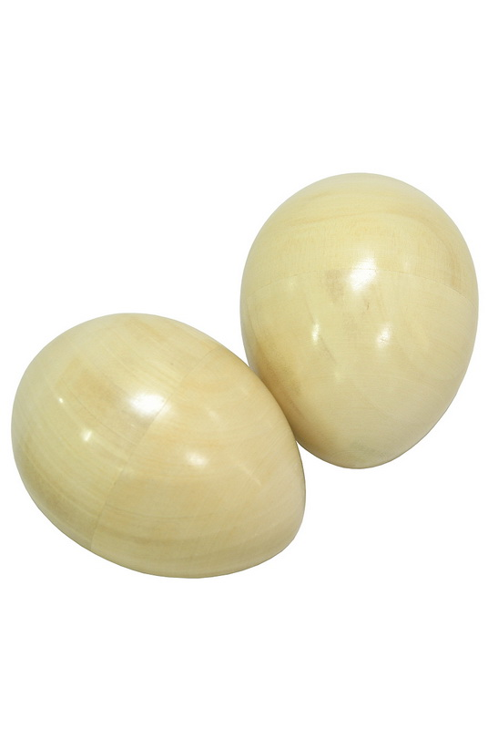 DOBANI Egg Shakers, Wooden Pair Natural