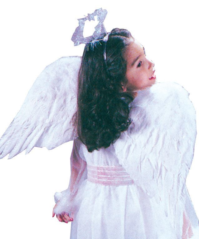 Funworld 8971WT Angel Wings Feathr Chld Wht