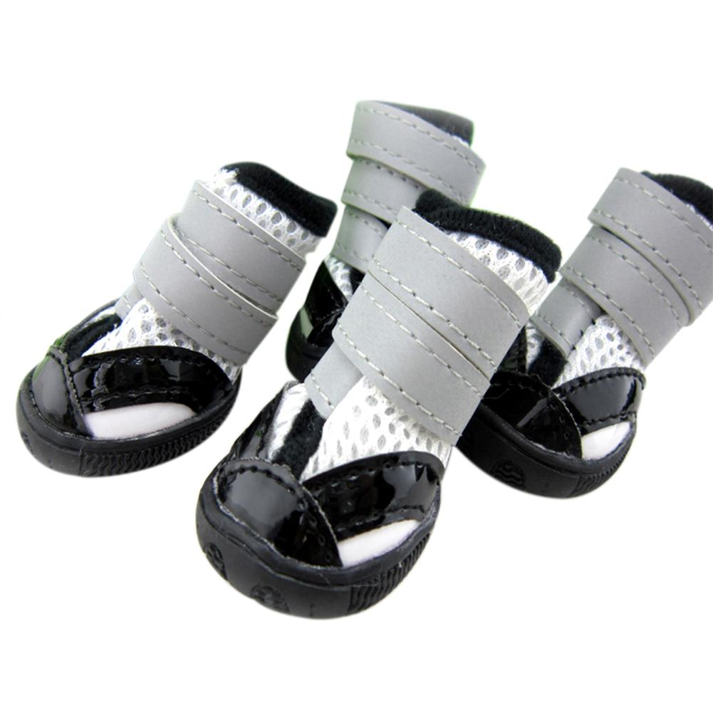 opentip gogo non slip mesh shoes for pet velcro