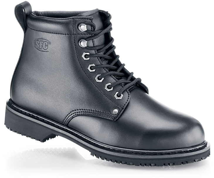 Black Work Boots For Men - Cr Boot