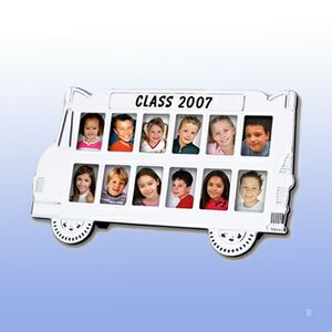 School Bus Photo Frame (Screened)