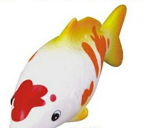 Custom rubber koi fish toy for Rubber fish toy